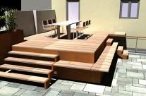 Gestaltung einer Aussenanlage mit Terrassendeck