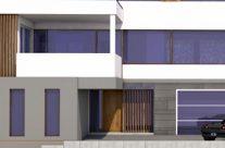 Bau eines Einfamilienhauses